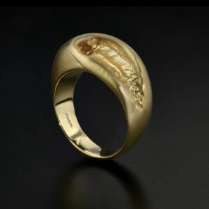 Emefa Cole gold vermeil Tube ring, inspired by cooling molten lava