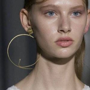 Hoop earrings created by Florence Gossec for the Pascal Millet spring/summer 2018 runway show