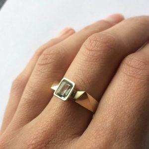 Gold and gemstone ring by Melanie Eddy