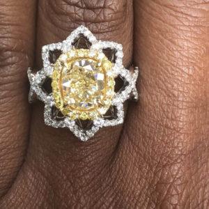 Sheryl Jones yellow diamond engagement ring