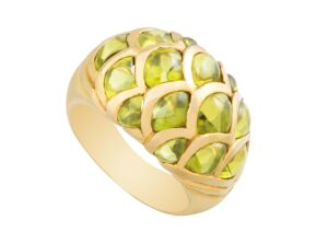 Amrapali 18ct gold and peridot ring