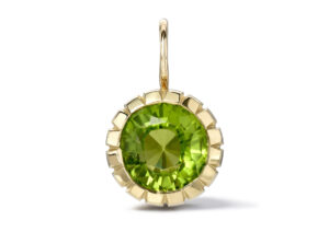 Retrouvaí 14ct yellow gold and peridot Heirloom charm