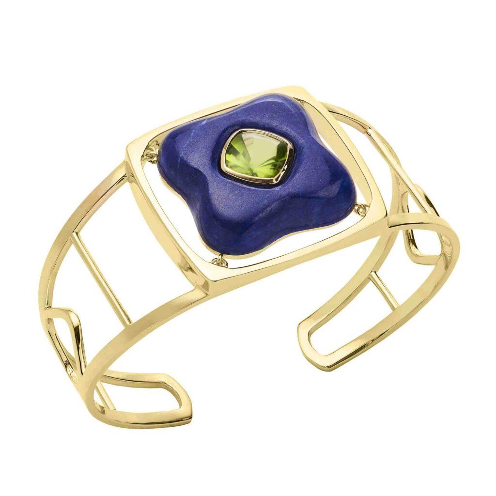 Rush Jewelry lapis lazuli, peridot and gold cuff