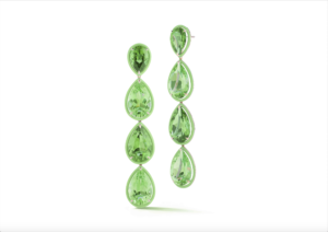 Deborah Pagani 18ct yellow gold, peridot and green enamel Uva earrings