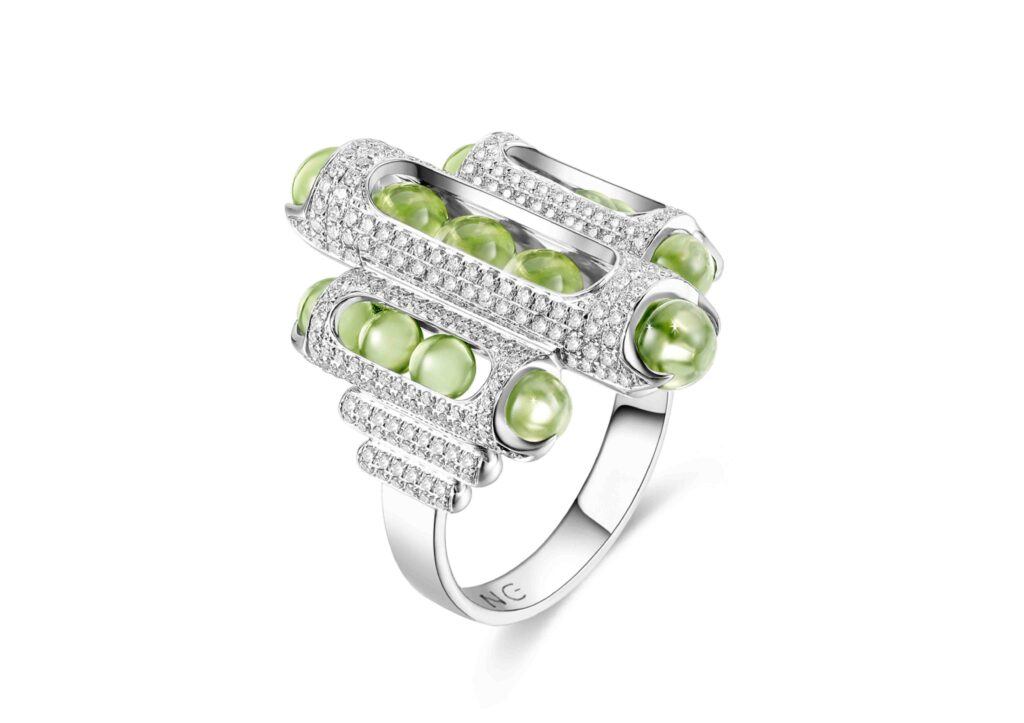 Zeemou Zeng Fuli Gemstones peridot Melody Ring