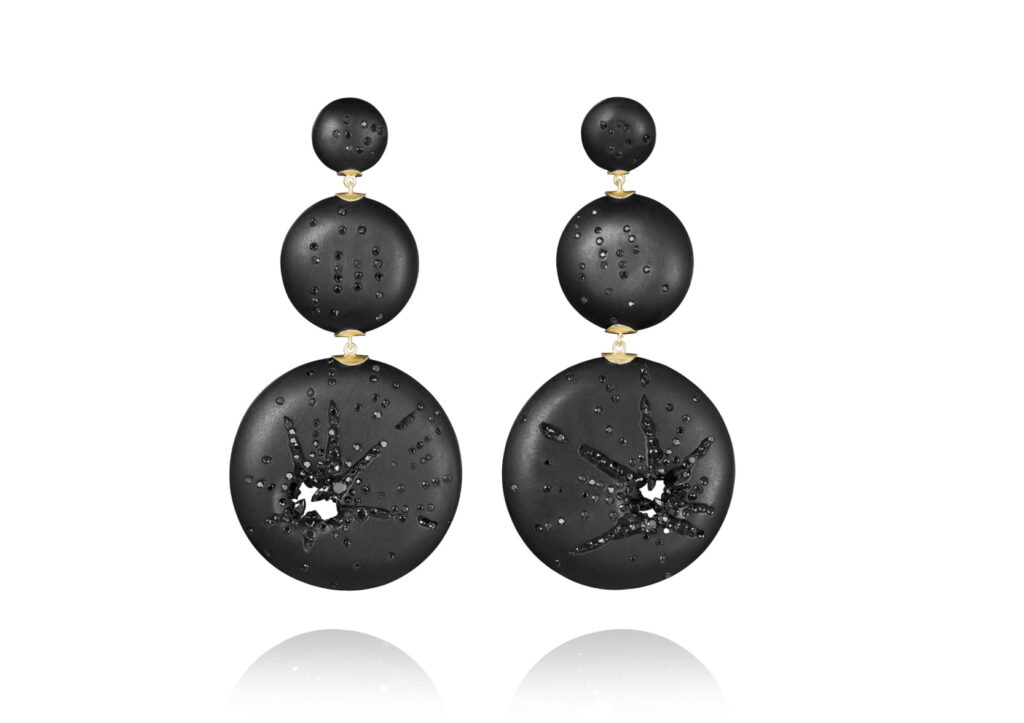 Jacqueline Cullen, Dark Matter Explosion Earrings