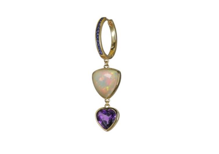 Andrey Yarden opal and amethyst earring