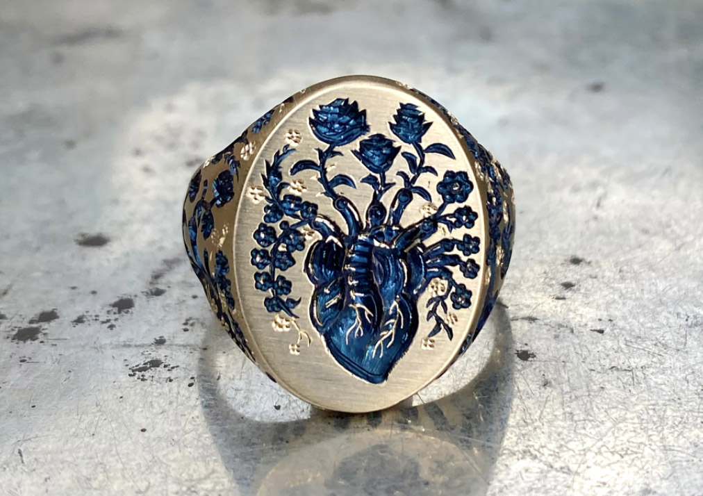 Castro Smith heart ring