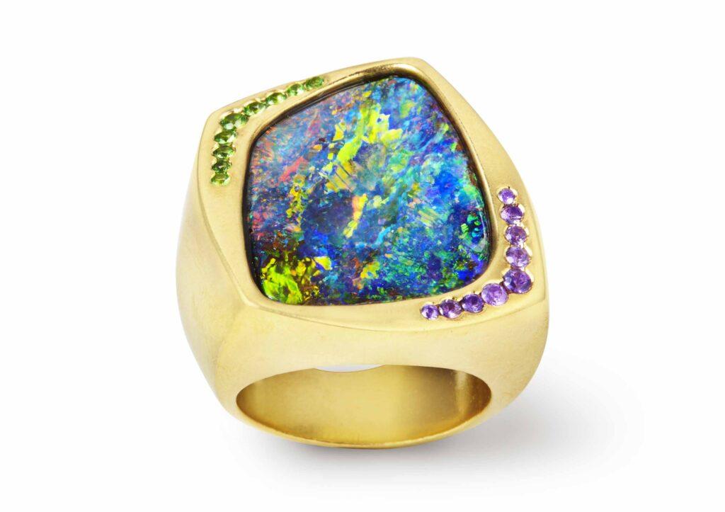 Katherine Jetter boulder opal ring