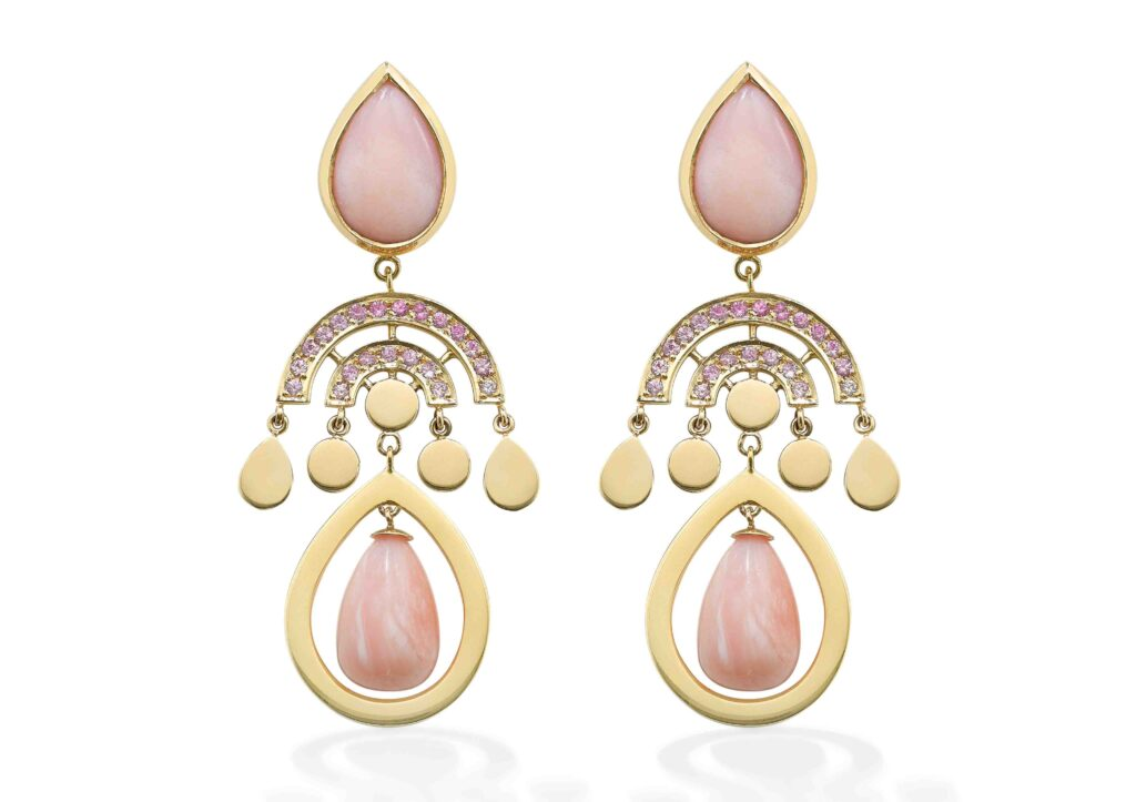 Robinson Pelham pink opal earrings
