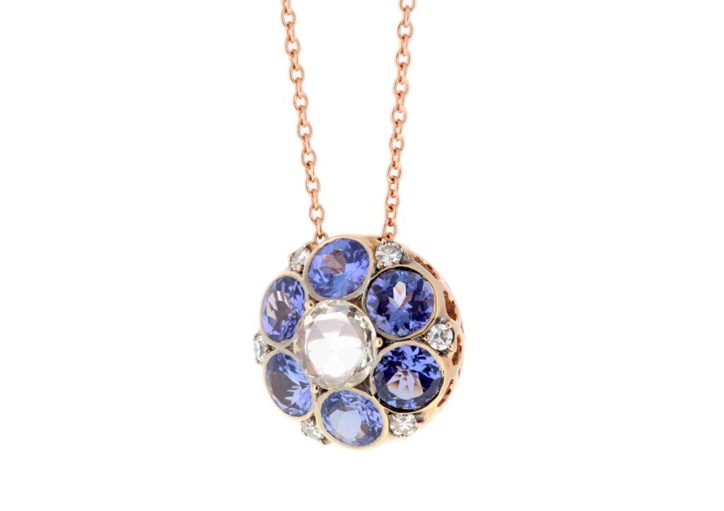 Selim Mouzannar 18ct rose gold, tanzanite and diamond Beirut pendant