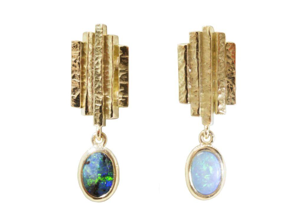 Sorrel Bay opal linea studs