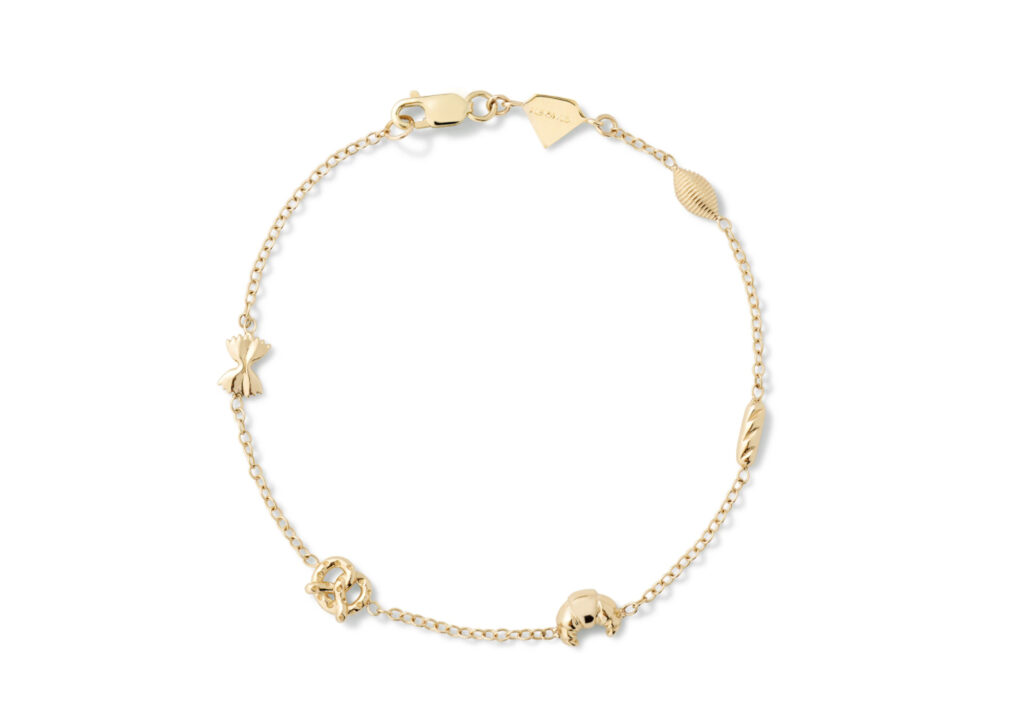 Alison Lou 14ct yellow gold Carbs by the Yard bracelet