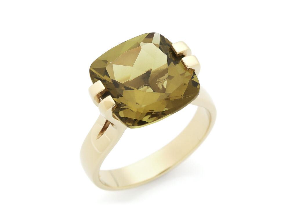 Carolin Stone olive topaz ring