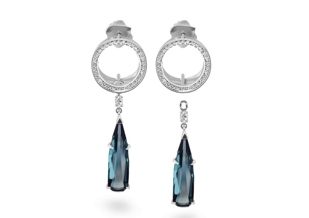 Drutis London Topaz earrings at The Jewellery Cut Shop