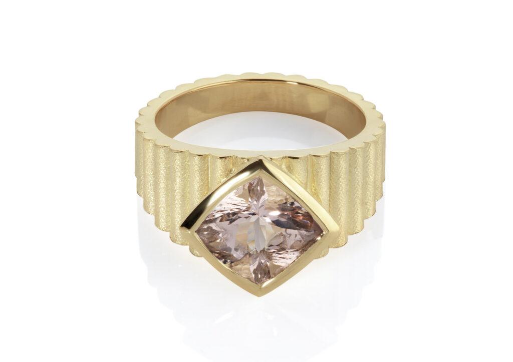 Flora Bhattachary morganite ring