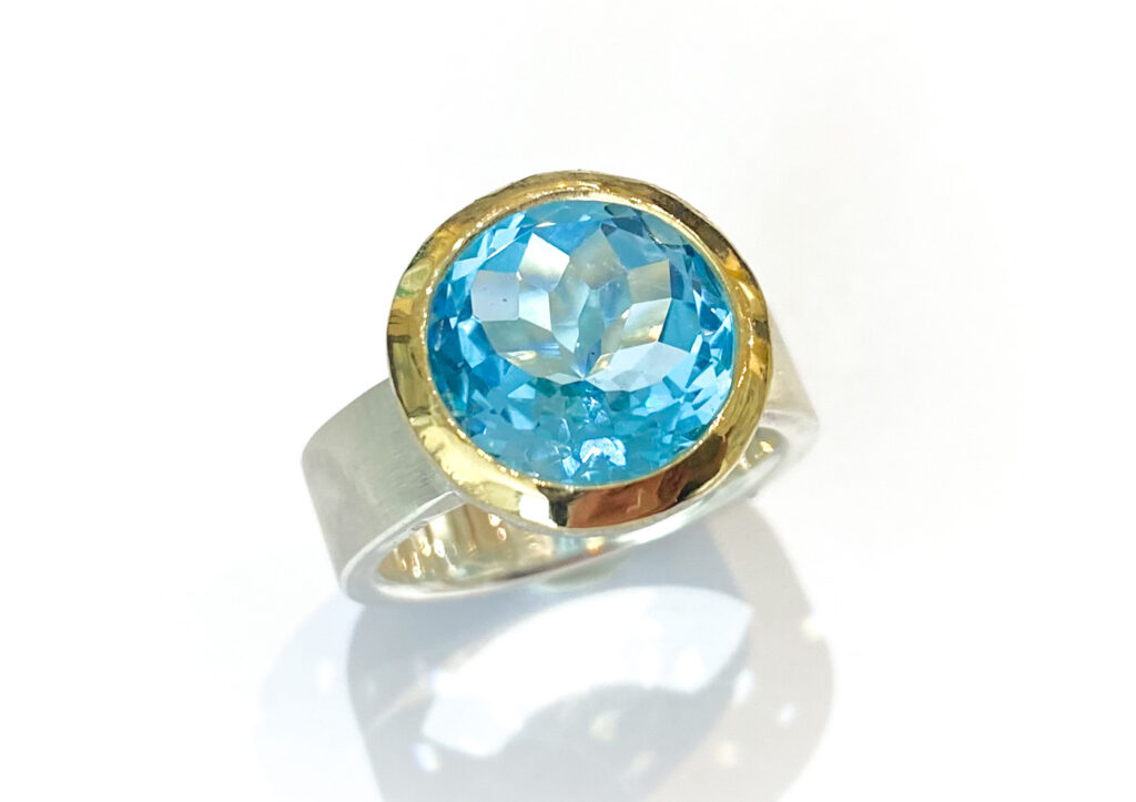 Libby Rak blue topaz ring at The Jewellery Cut Shop