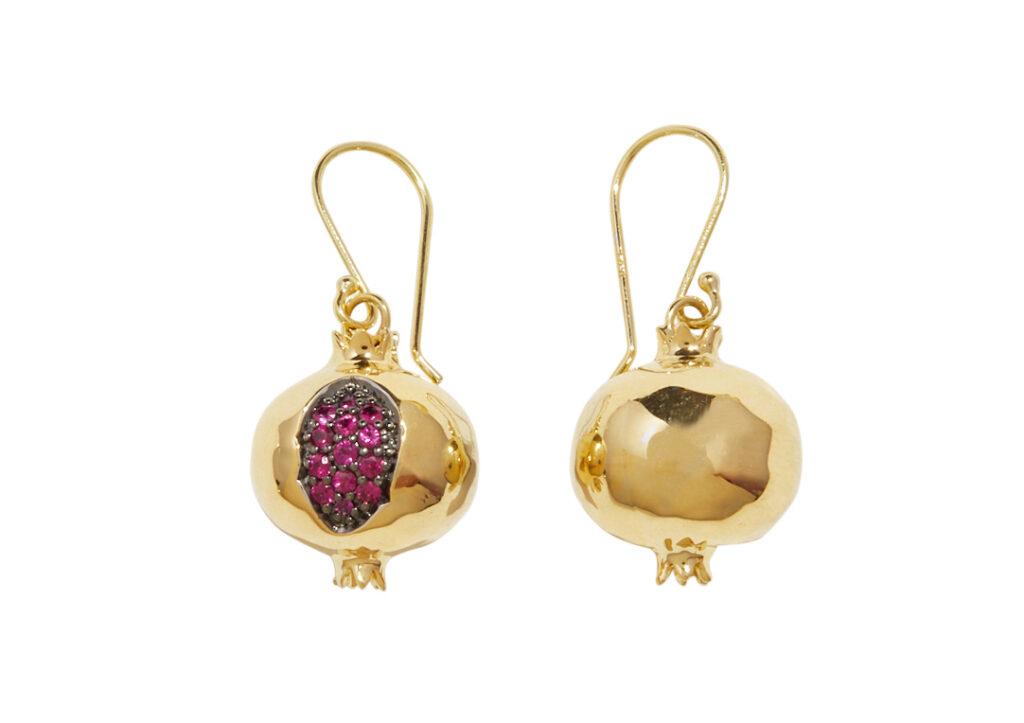 Pamela Love gold Pomegranate earrings