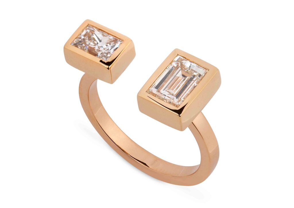 Reframed Jewelry gold and diamond ring at The Jewellery Cut Shop