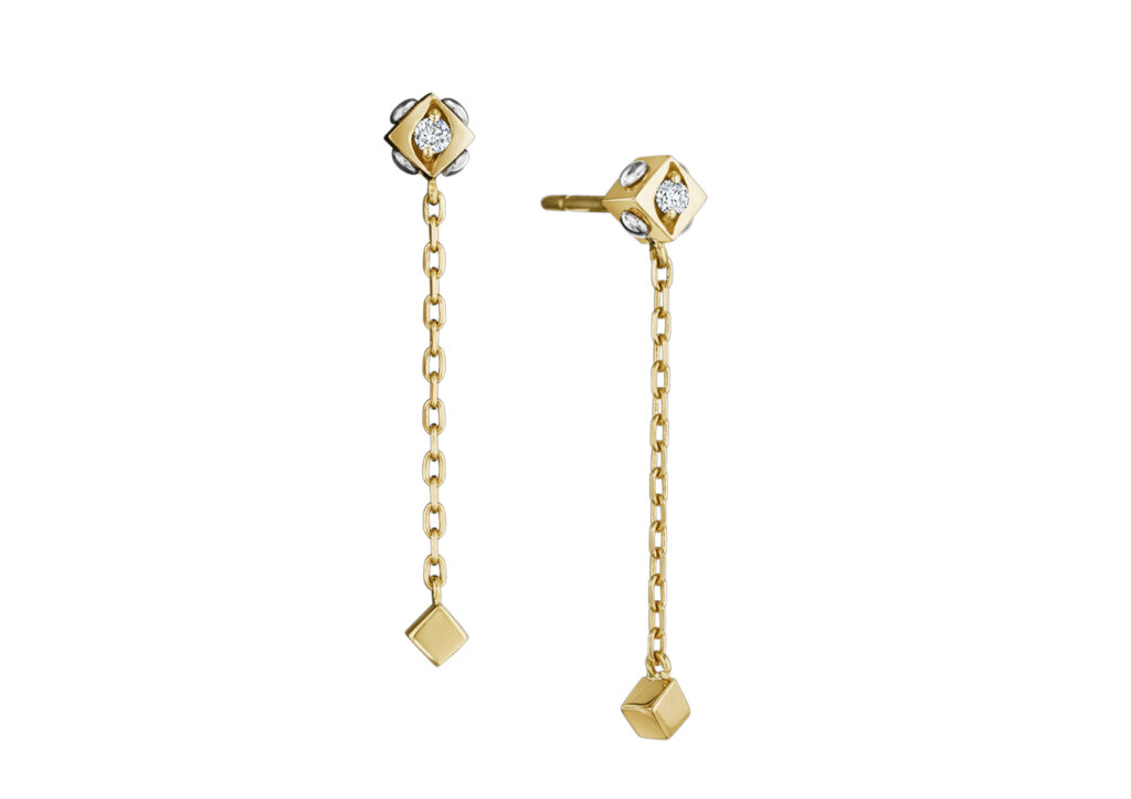 Royal Asscher gold and diamond earrings at The Jewellery Cut Shop