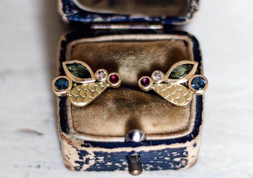 Alison Macleod Catkin Happenstance Droplet Studs styled