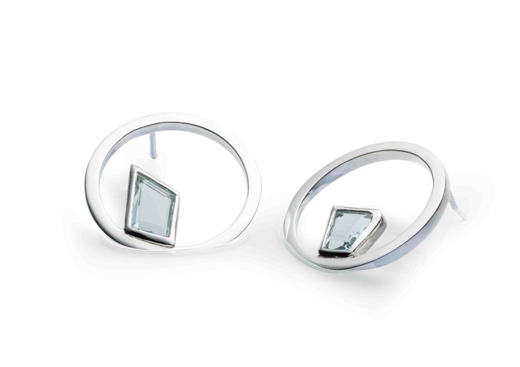 Charlotte Cornelius aquamarine hoop earrings