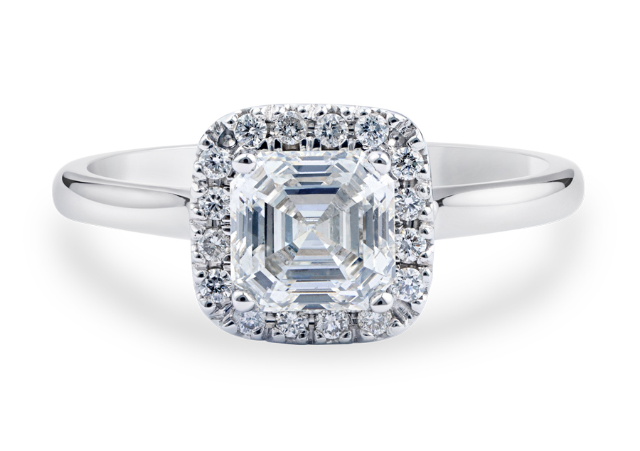 Royal Asscher Caterina engagement ring
