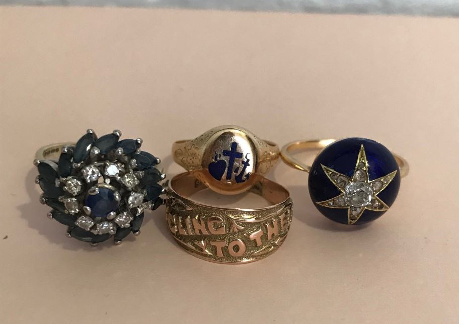 A selection of Liberty jewellery buyer Ruby Beales' vintage and antique rings