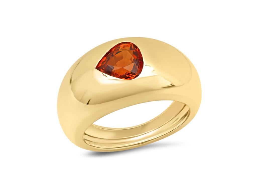 Sig Ward 14ct yellow gold Gypsy ring with1.06ct spessartine garnet, $2,312