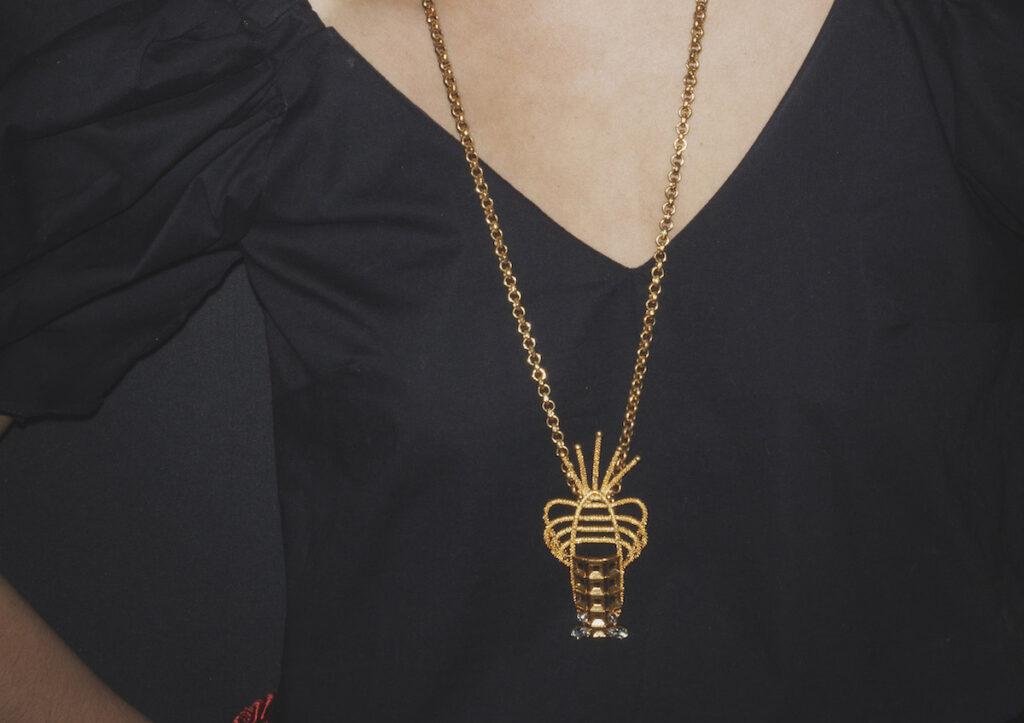 Sonia Petroff lobster necklace