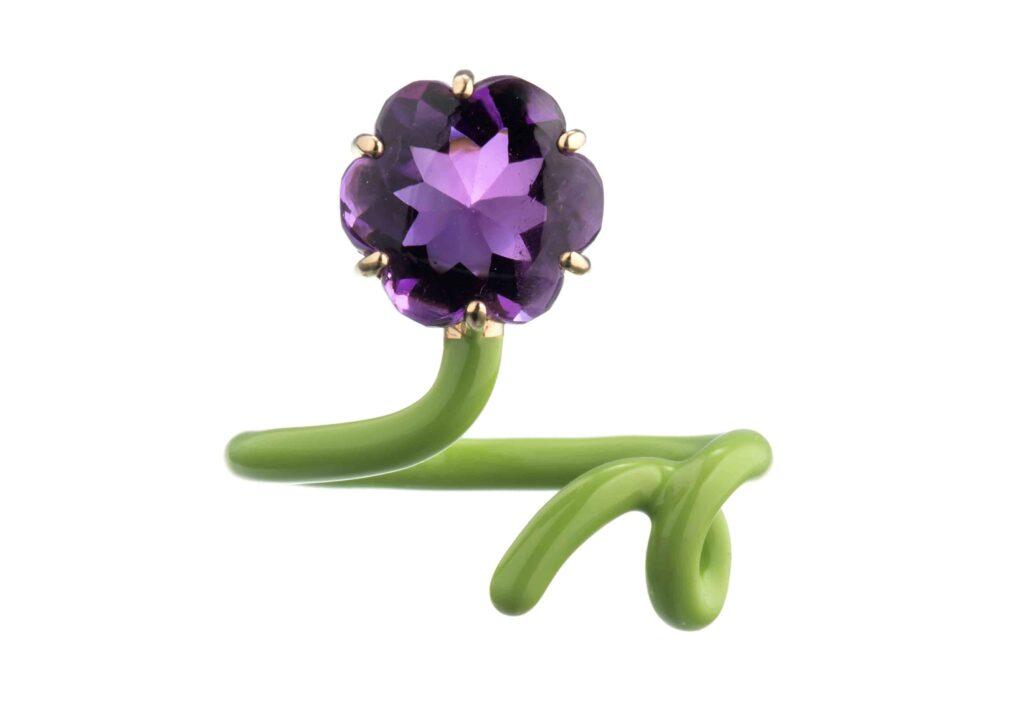 Bea Bongiasca lime flower ring