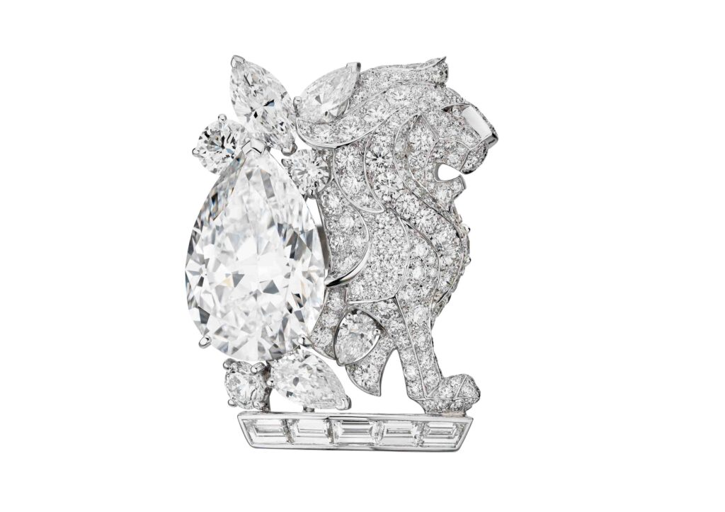 Chanel Escale à Venise diamond lion brooch