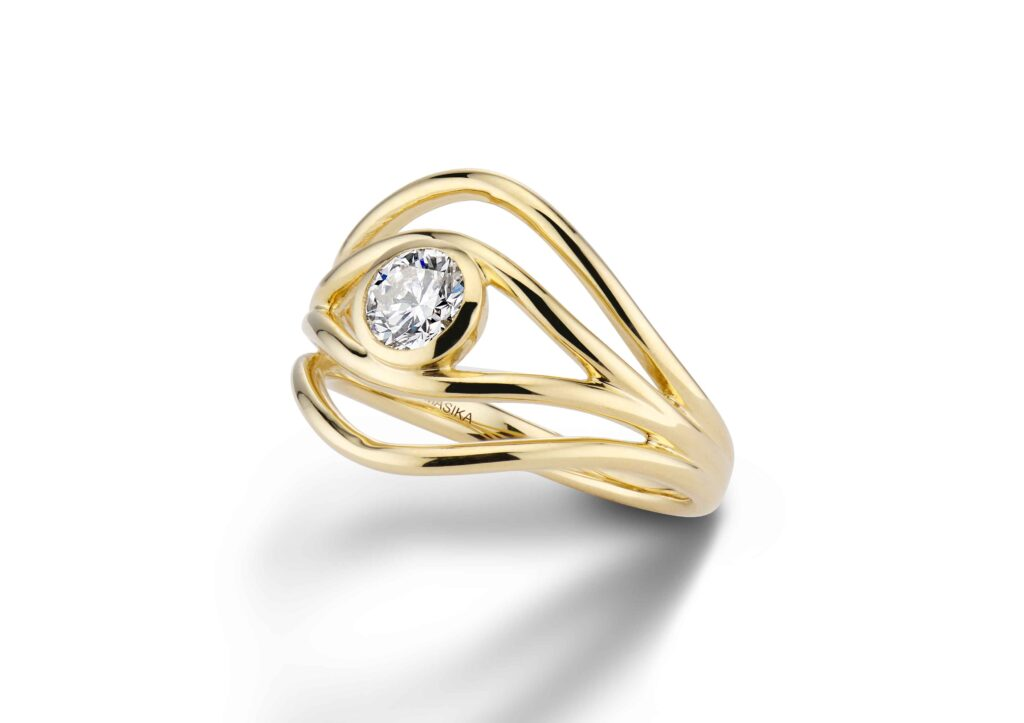 De Beers x Blue Nile Ten Ten engagement ring collaboration