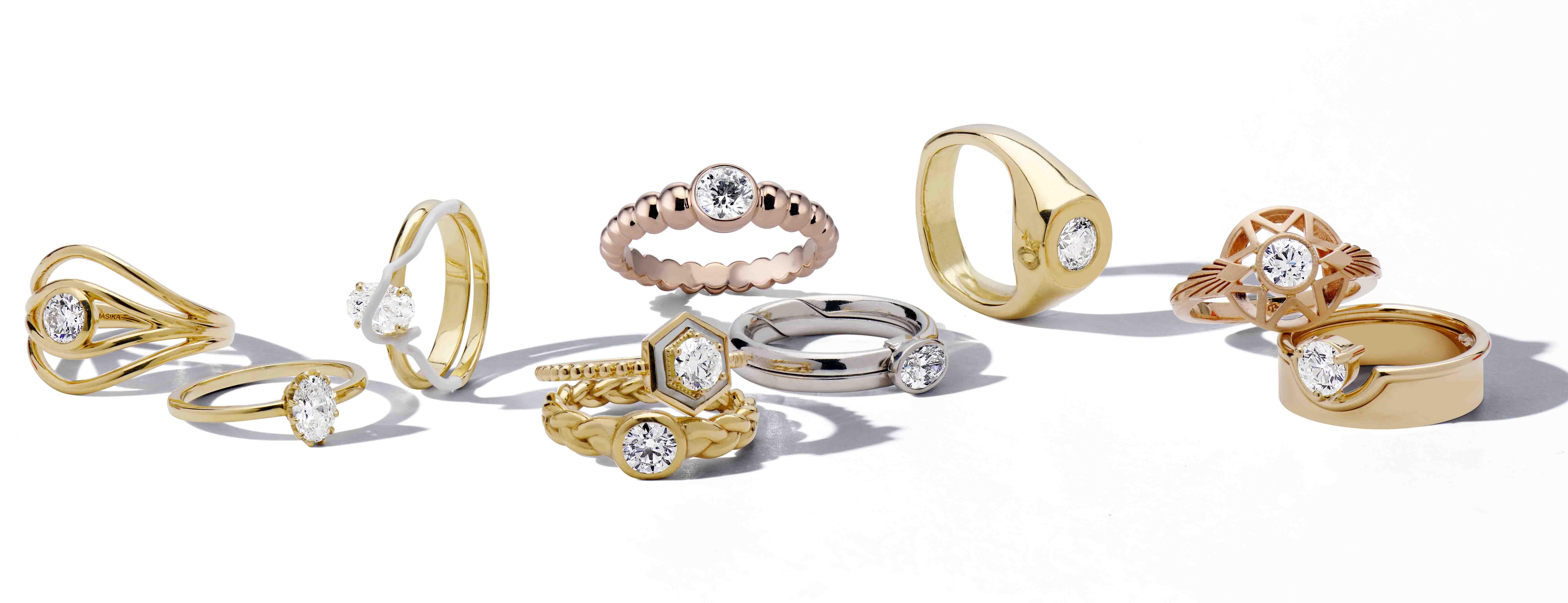 De Beers x Blue Nile Ten Ten engagement ring collaboration