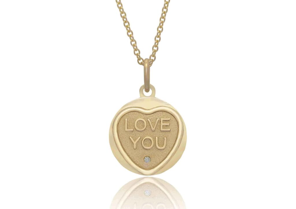 Origin 31 gold and diamond Love Hearts Love You necklace at The Jewellery Cut Shop 2