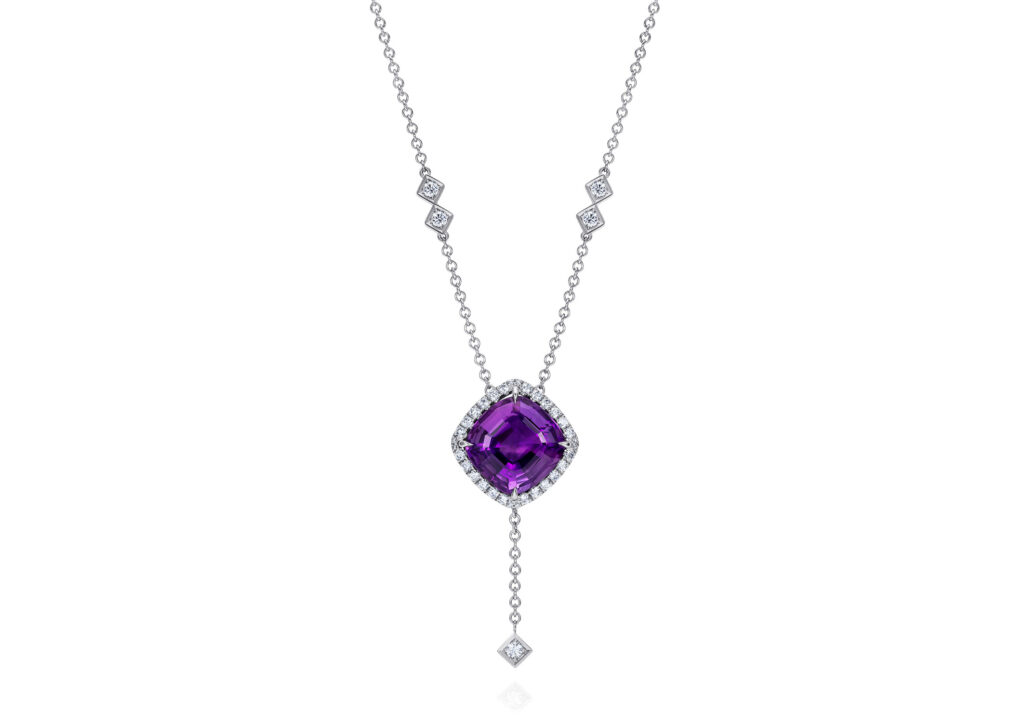 Thelma West amethyst necklace