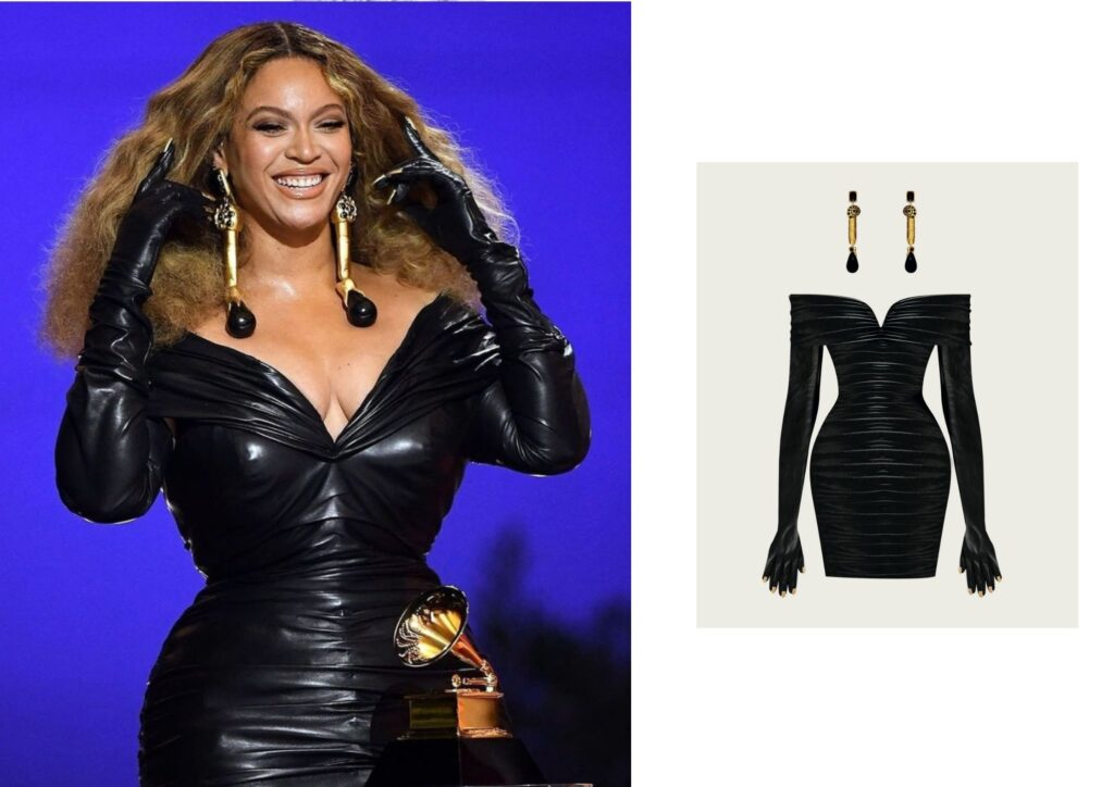 Beyonce in Schiaparelli jewellery at The Grammys 20201