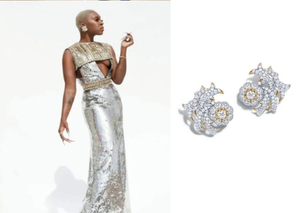 Cynthia Erivo in Tiffany jewellery at The Grammys 20201