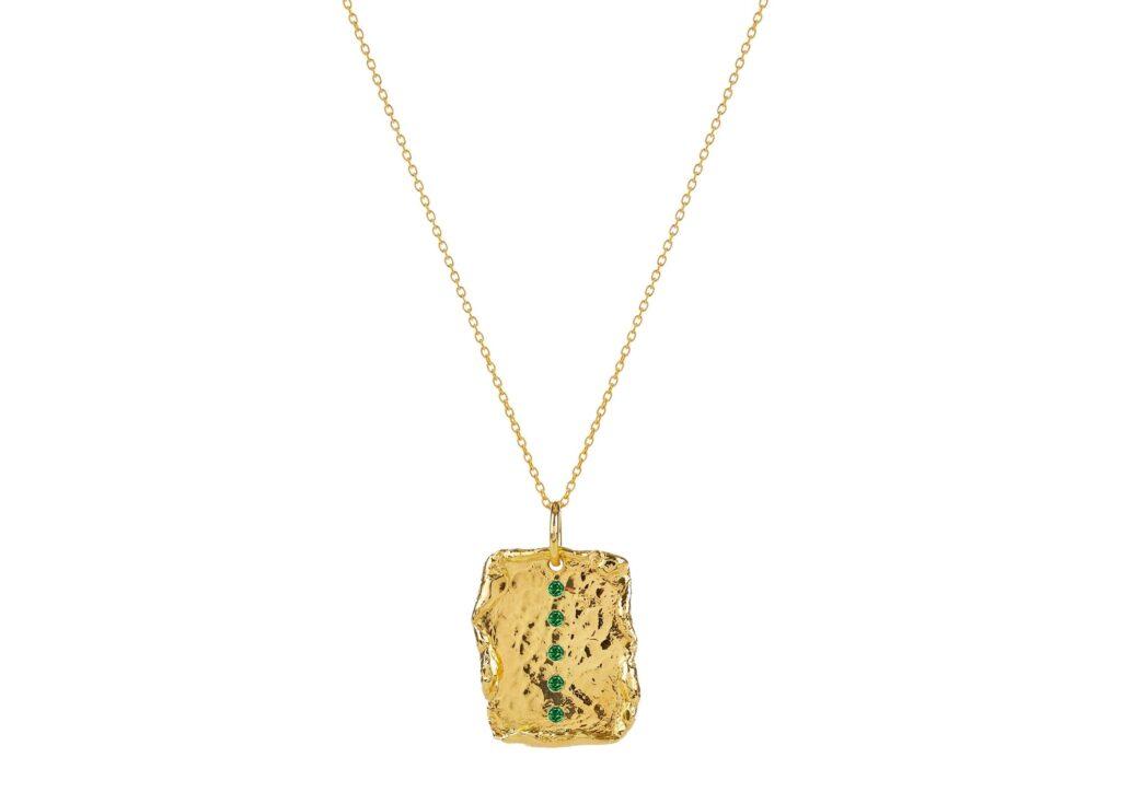 Deborah Blyth tsavorite gold vermeil pendant