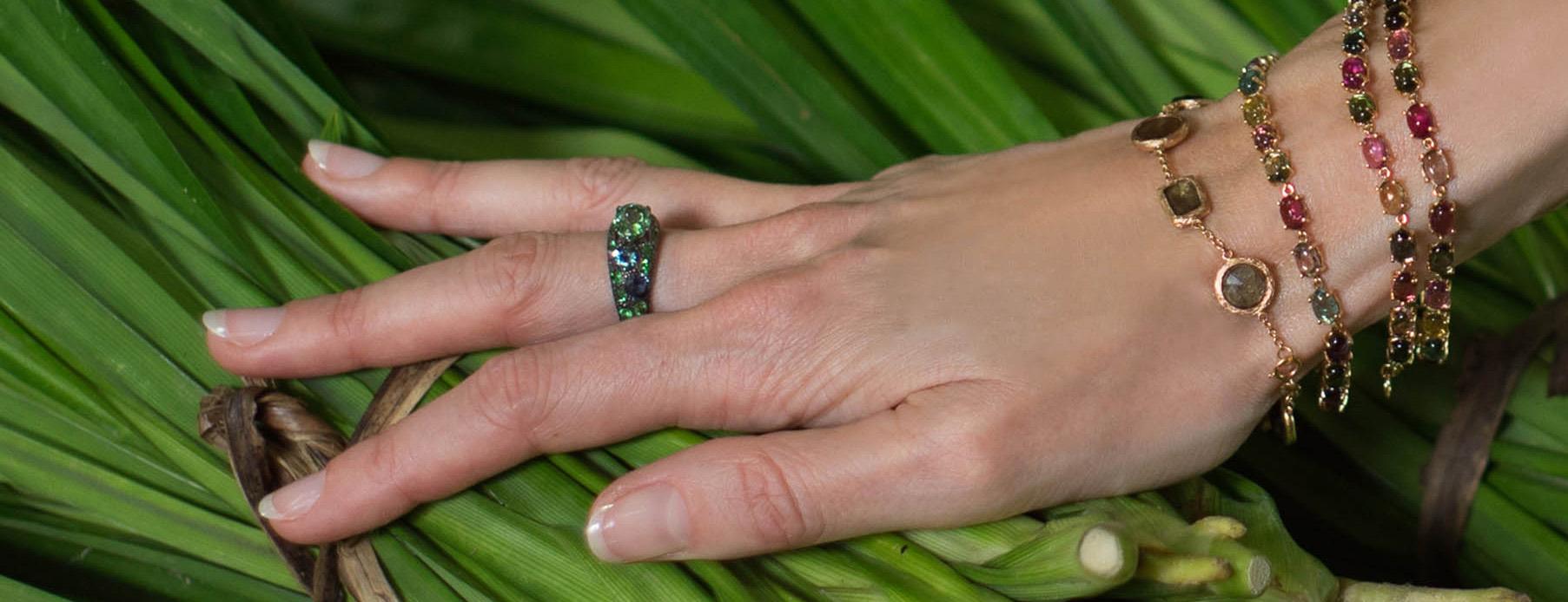 Eva Gems and Jewels tsavorite garnet ring