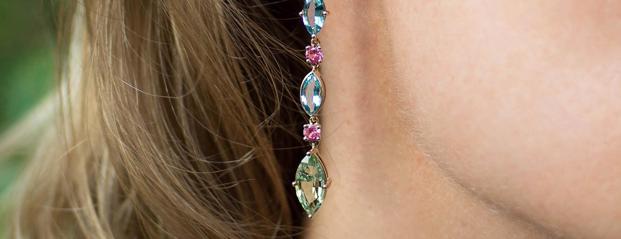 Eva Gems and Jewels aquamarine earrings