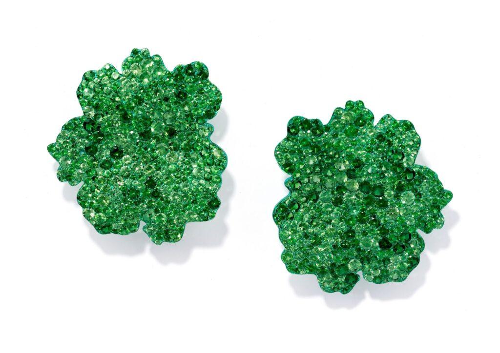 Fabio Salini tsavorite and green titanium earrings