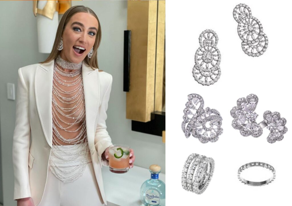 Ingrid Andress in Chopard jewellery at The Grammys 20201