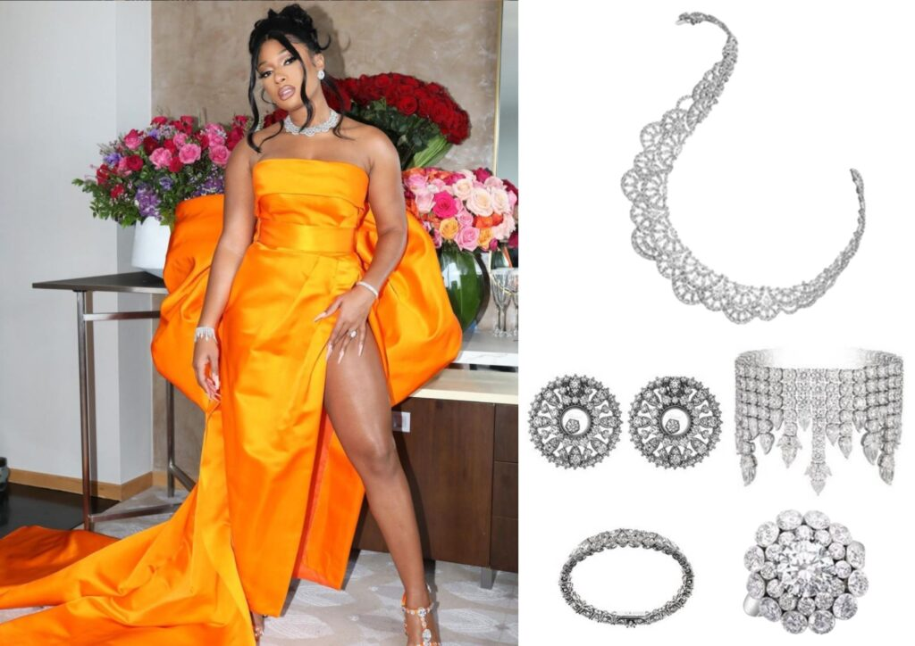 Megan Thee Stallion in Chopard jewellery at The Grammys 20201