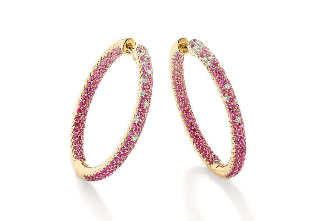 Robinson Pelham pink sapphire hoops