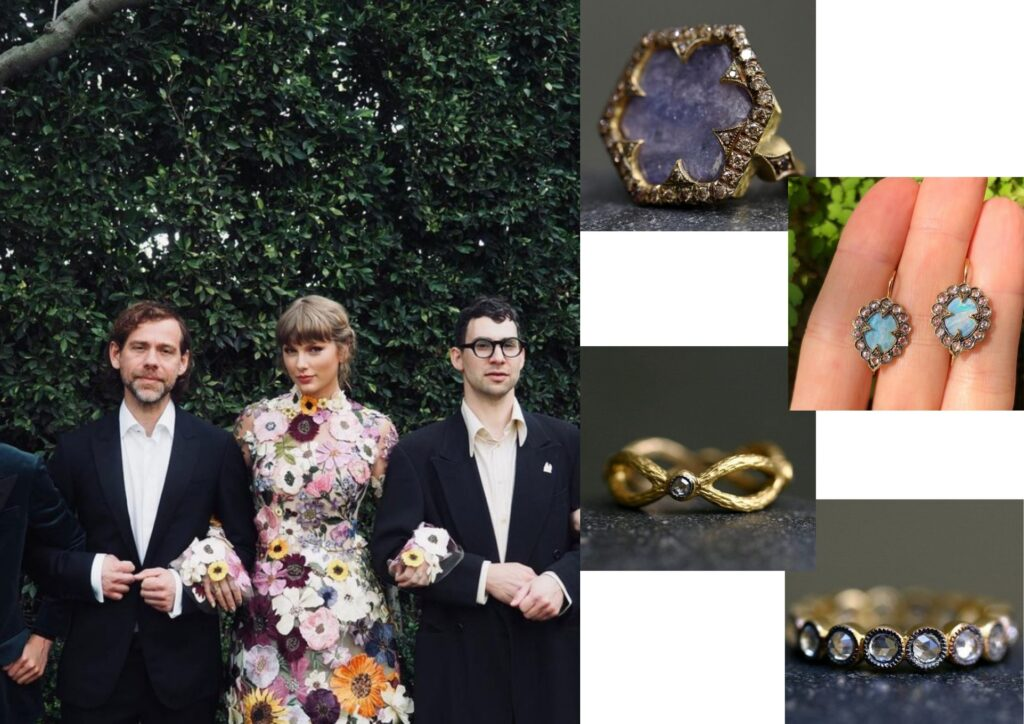 Taylor Swift in Cathy Waterman jewellery at The Grammys 20201