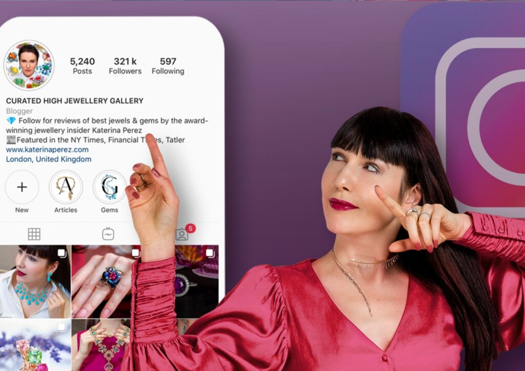 Katerina Perez online course - How to sell jewellery on Instagram