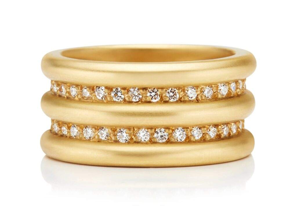 Reinstein Ross gold and diamond ring