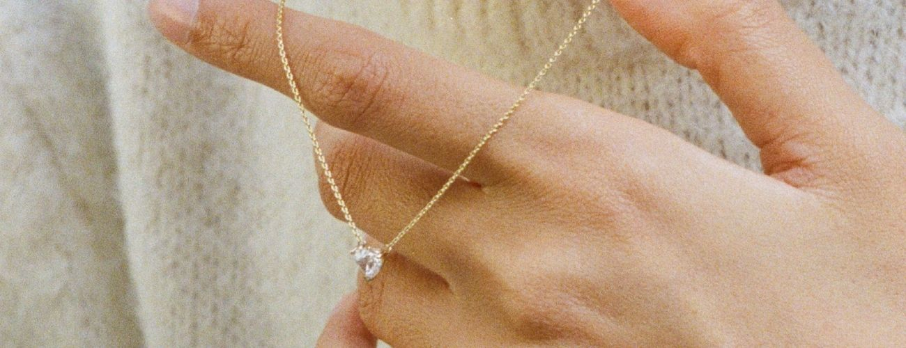 Matilde heart-shaped lab-grown diamond necklace