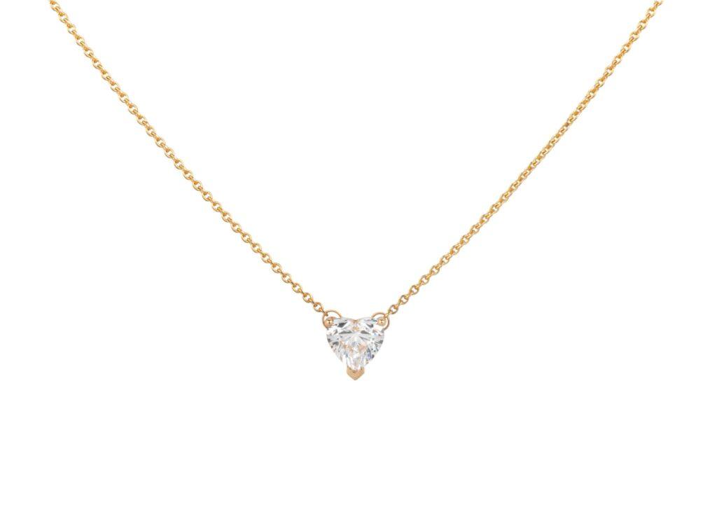 Matilde lab-grown diamond heart necklace